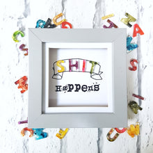Shit happens resin wall art, funny positivity adult gift