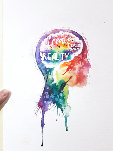 Custom typography original watercolour painting