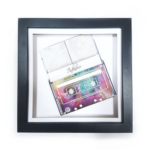 Mixtape resin art cassette frame