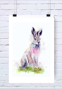 Hare Watercolour Wall Art