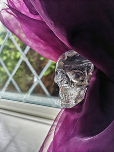Solid resin skull curtain tie backs