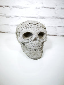 Solid large concrete sugar skull. UK mainland only