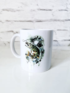 Pike watercolour fish mug