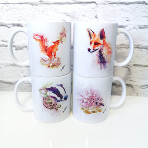 Hedgehog Watercolour Mug