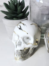 Marble effect skulls with real gold leaf