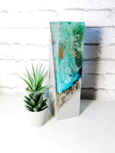 Resin and Concrete LED Light  Tall