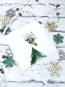 Mixed pack of 6 Christmas bot christmas cards