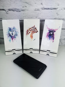 Hedgehog Watercolour Phone Stand