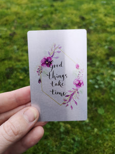 Single affirmation positivity card