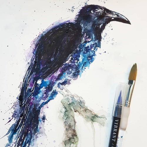 Raven / crow greeting card