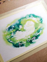 Baby scan original watercolour painting
