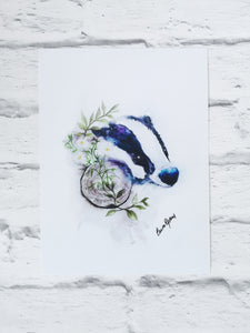Badger Watercolour Art Phone Accessories