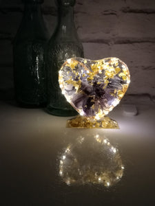 Heart Shape Resin Light Stand