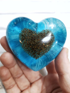 Resin Memorial Heart with Inclusion