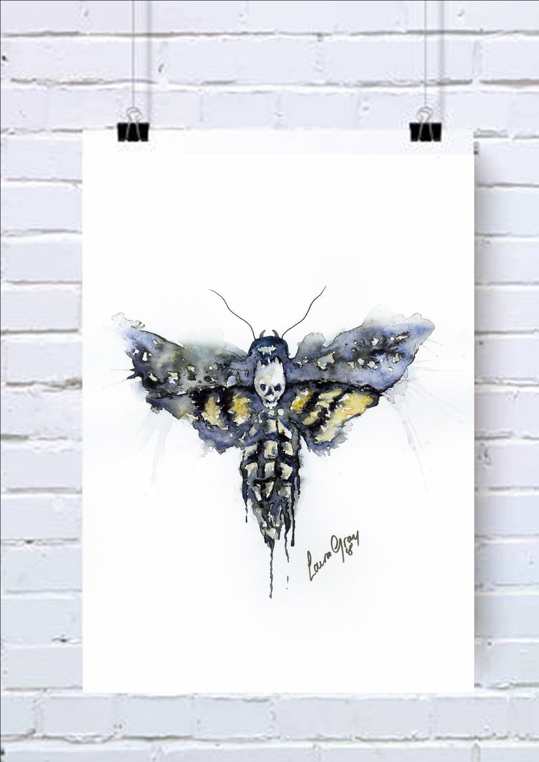 Moth Watercolour Art Print