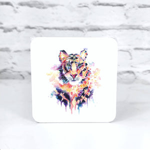 Geometric Tiger Coaster