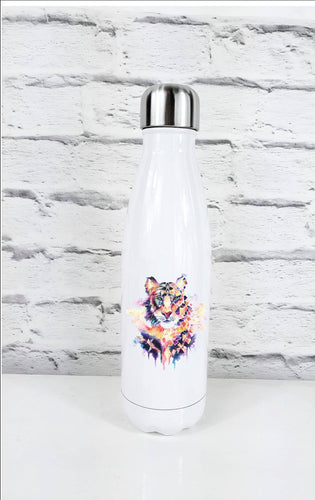 Geometric Tiger Art Thermal Water Bottle