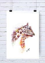 Giraffe and Baby Watercolour Notebook