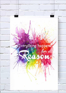 Everything Happens for a Reason Wall Art