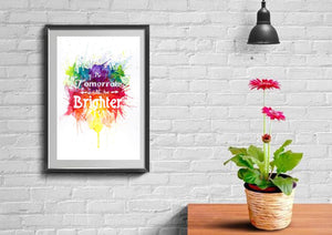 Tomorrow will be brighter watercolour art print