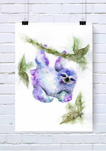 Sloth Watercolour Wall Art