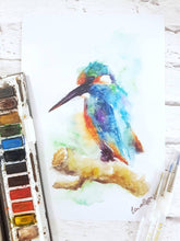 Kingfisher Watercolour Wall Art Print