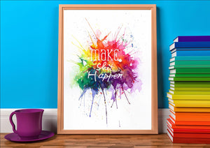 Make shit happen typography art print