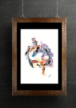 Koi Carp Yin Yang Fish Watercolour Wall Art Print
