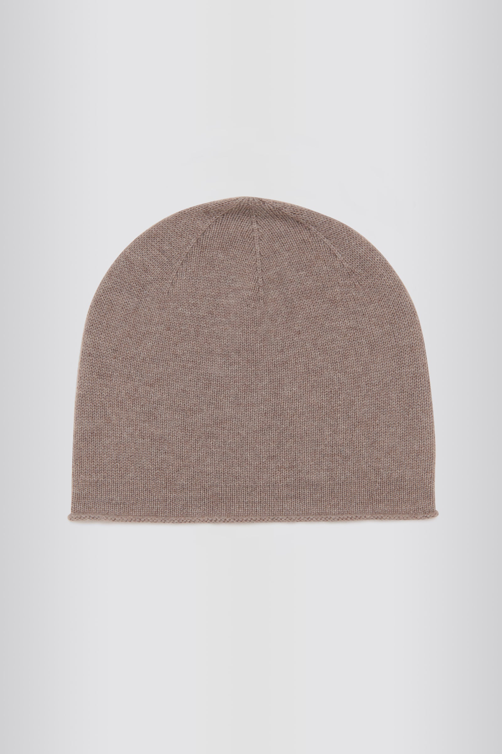 Kal Rieman Cashmere Cap in Drift on Model  Side Close-up View