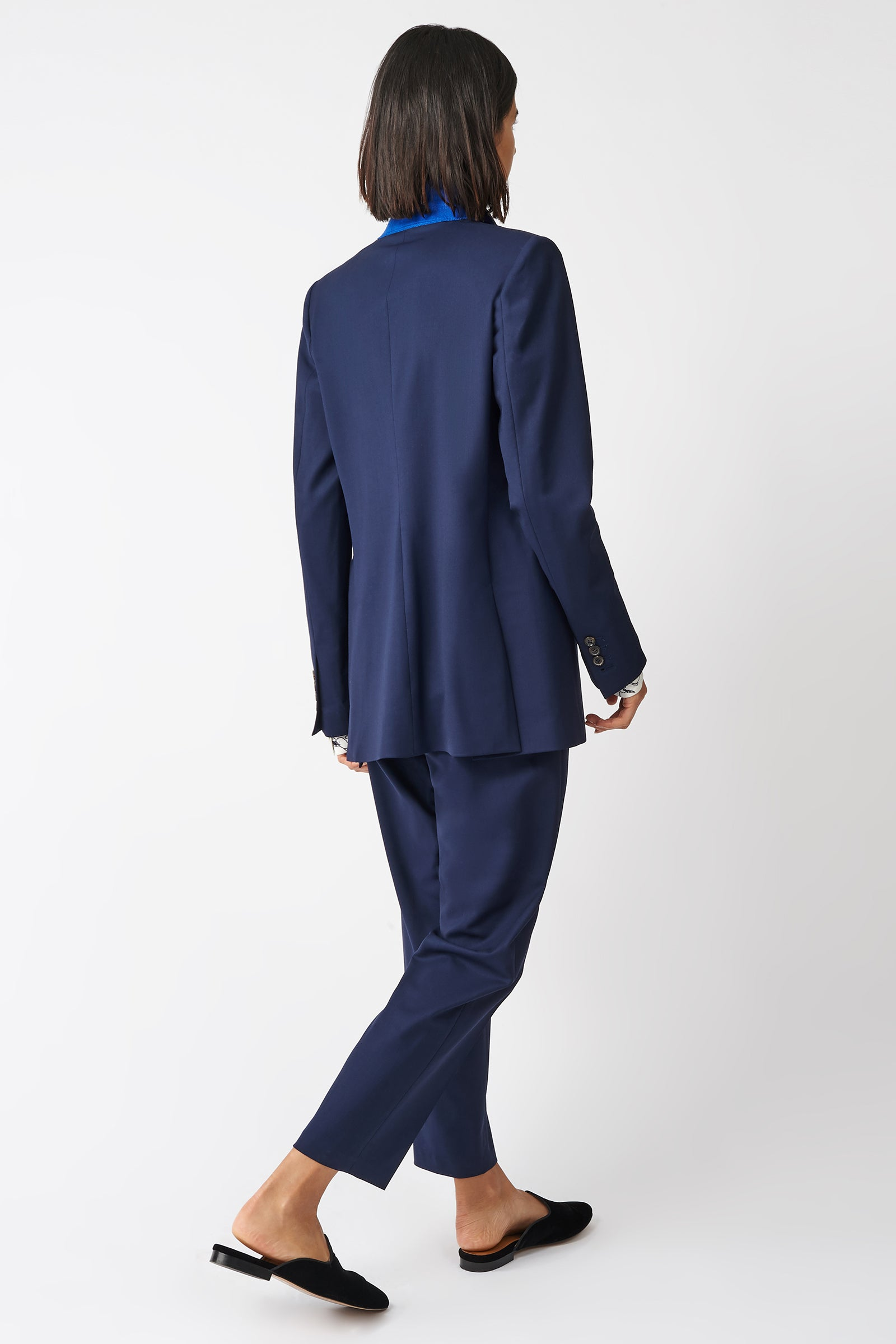 Kal Rieman Classic Notch Blazer in Navy on Model Front View