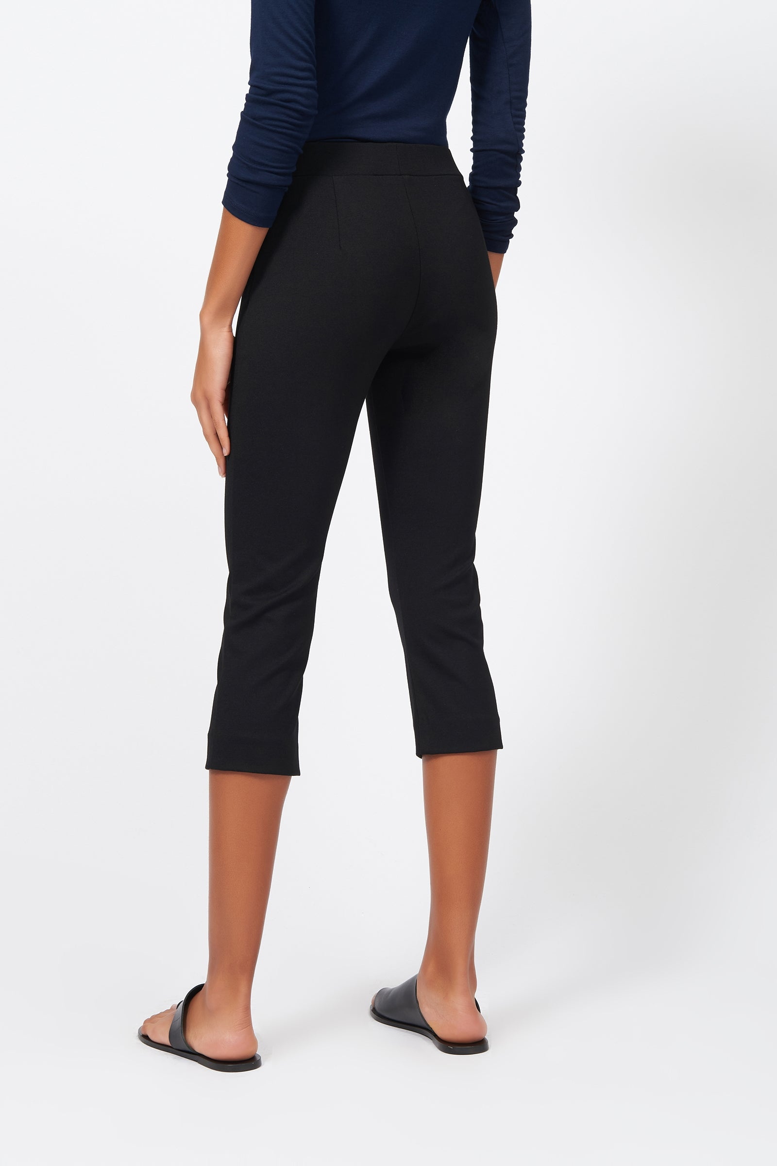 Kal Rieman Pintuck Ponte 3/4 Pant on Model Front View