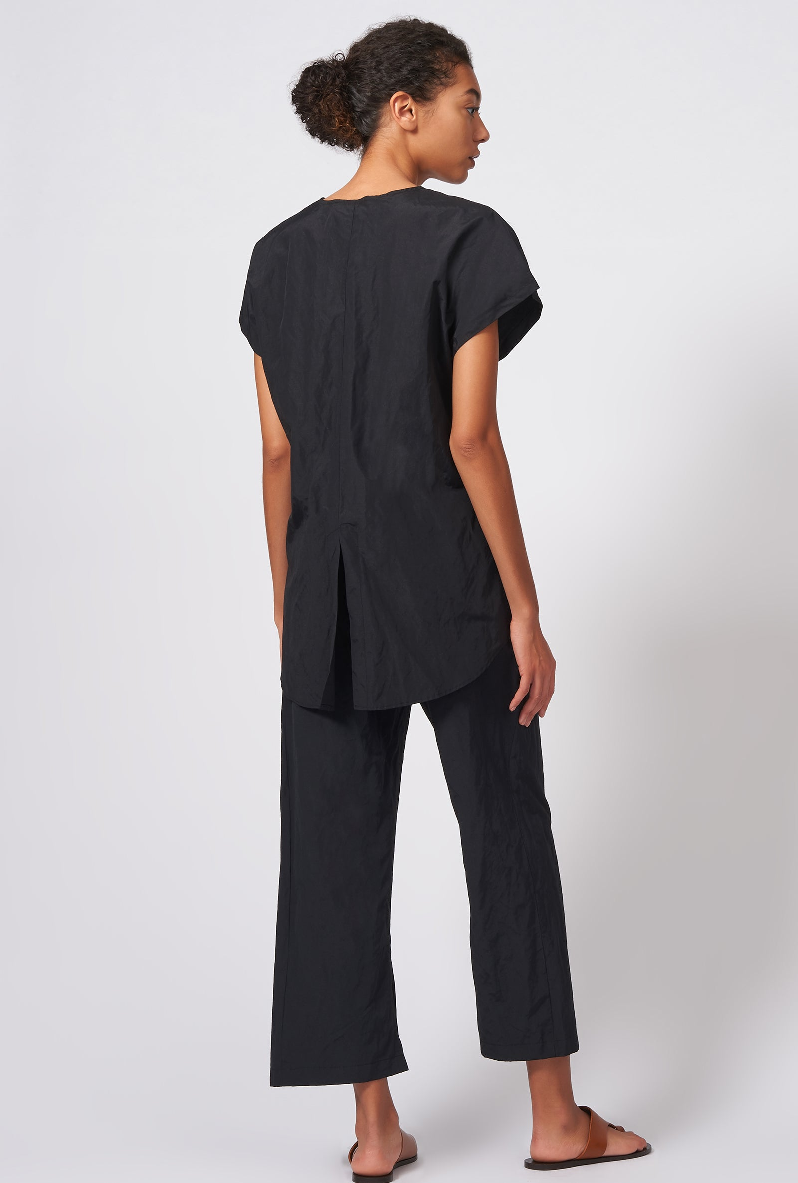 Kal Rieman Tux Back Tee in Black on Model Full Front View