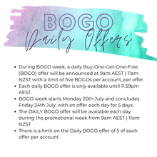 Load image into Gallery viewer, AUS/NZ July 2020 - BOGO Week Graphics