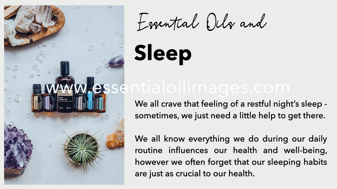 Essential Oils and Sleep - Online Class Resource Pack