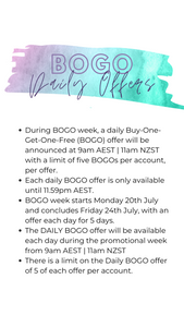 AUS/NZ July 2020 - BOGO Week Graphics