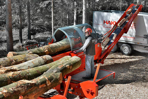hakki pilke firewood processor large diameter wood