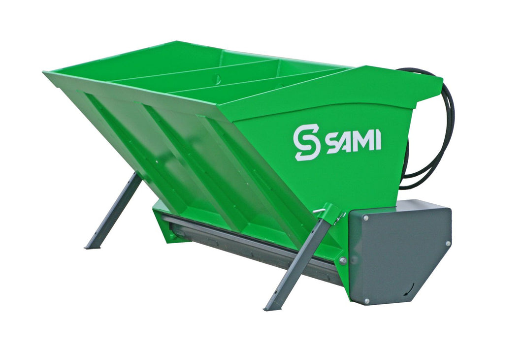 powder coated sand spreader for tractor 3 point hitch