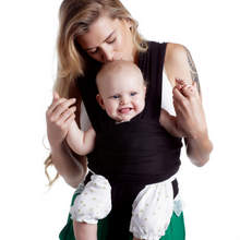 Hands Free Baby Wrap Carrier — Breathable Soft and Stretchy Baby Sling Carrier, Ergonomic, Safe and Secure for Newborns, Babies and Infants, No Back Pain, Perfect for Breastfeeding - Baby Shower Gift