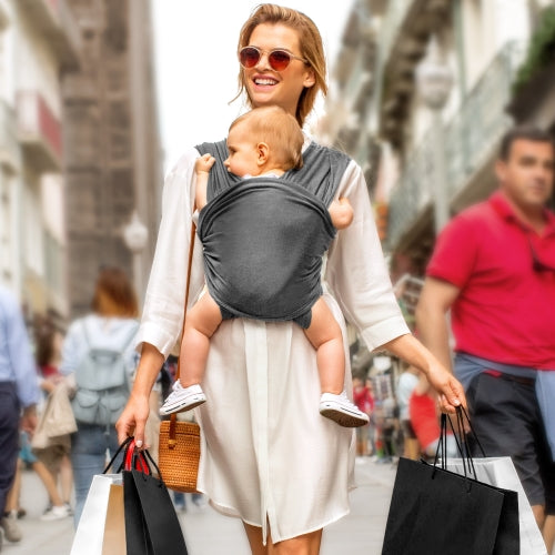 Hands Free Baby Wrap Carrier (Dark Grey)