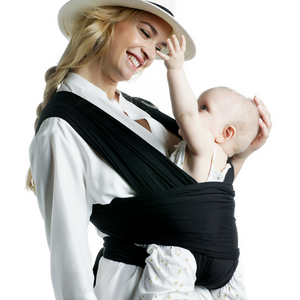 Hands Free Baby Wrap Carrier (Black)