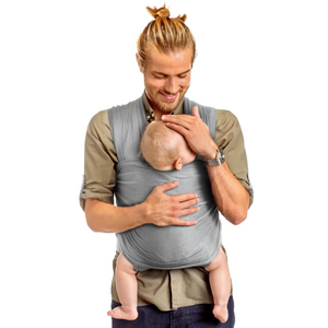 Hands Free Baby Wrap Carrier (Light Grey)