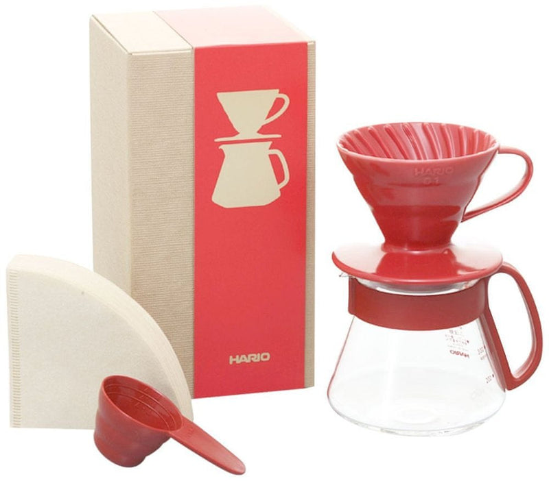 Hario V60 Dripper a Pot Set - dripper 01 + server 360ml + filters