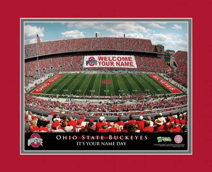The Ohio State University Stadium Personalized Print - Ohio State Stadium - Ohio State Stadium Framed Print - Ohio State Football
