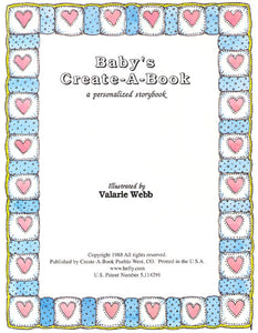 Personalized Children's Book, Baby's Create-A-Book, Personalized Book, Newborn Gift, Birth Gift