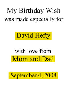 My Birthday Wish, Personalized Book For Kids - Connie's Personalized Music, Books & More