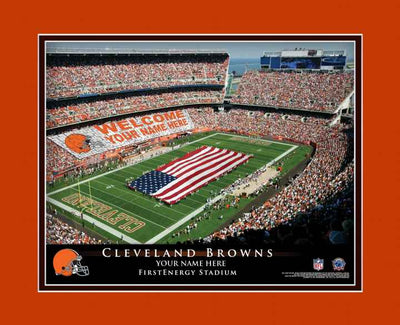 Cleveland Browns Personalized Stadium Print Framed - NFL Gift - NFL Item