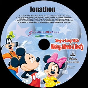 Mickey and Minnie Mouse & Goofy Personalized Music Cd, Mickey Mouse Cd, With A Digital Download - Connie's Personalized Music, Books & More
