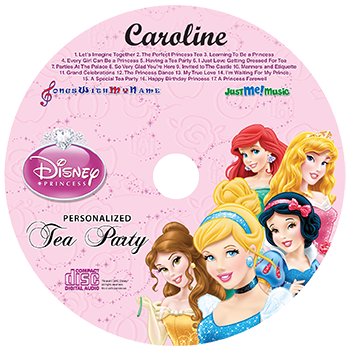 Disney Princesses Personalized Music Cd, Disney Princesses Tea Party
