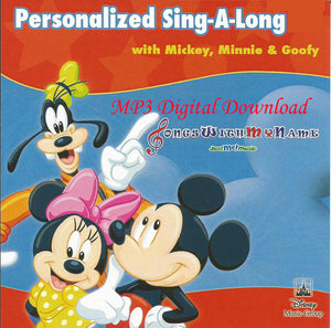 Mickey & Minnie Mouse Sing-A-Long, Personalized Songs - DIGITAL DOWNLOAD ONLY