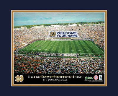 Notre Dame Football Personalized Stadium Print - NCAA - The Fighting Irish